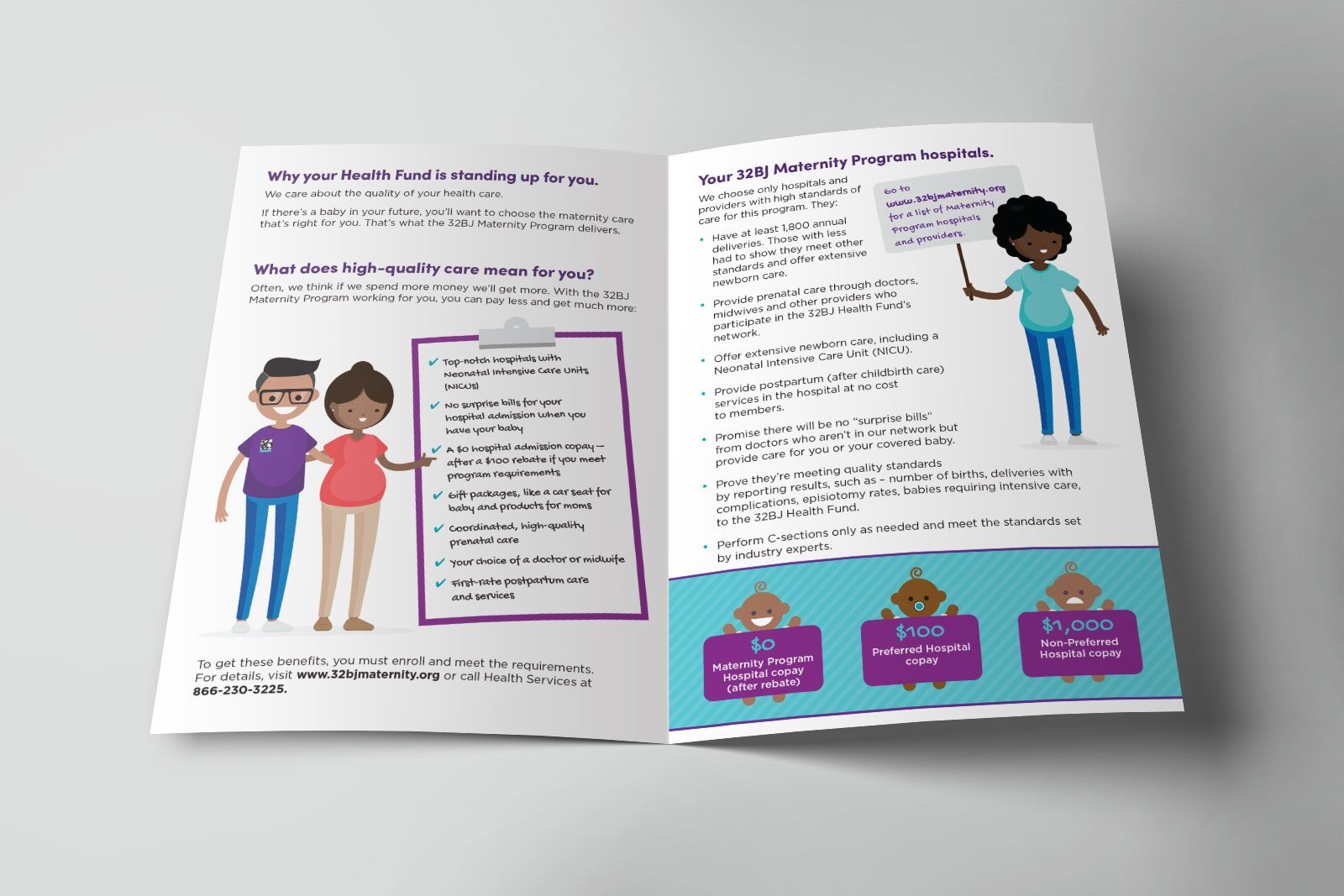 32BJ Health Maternity Program - Design by New Leaf Graphic Design
