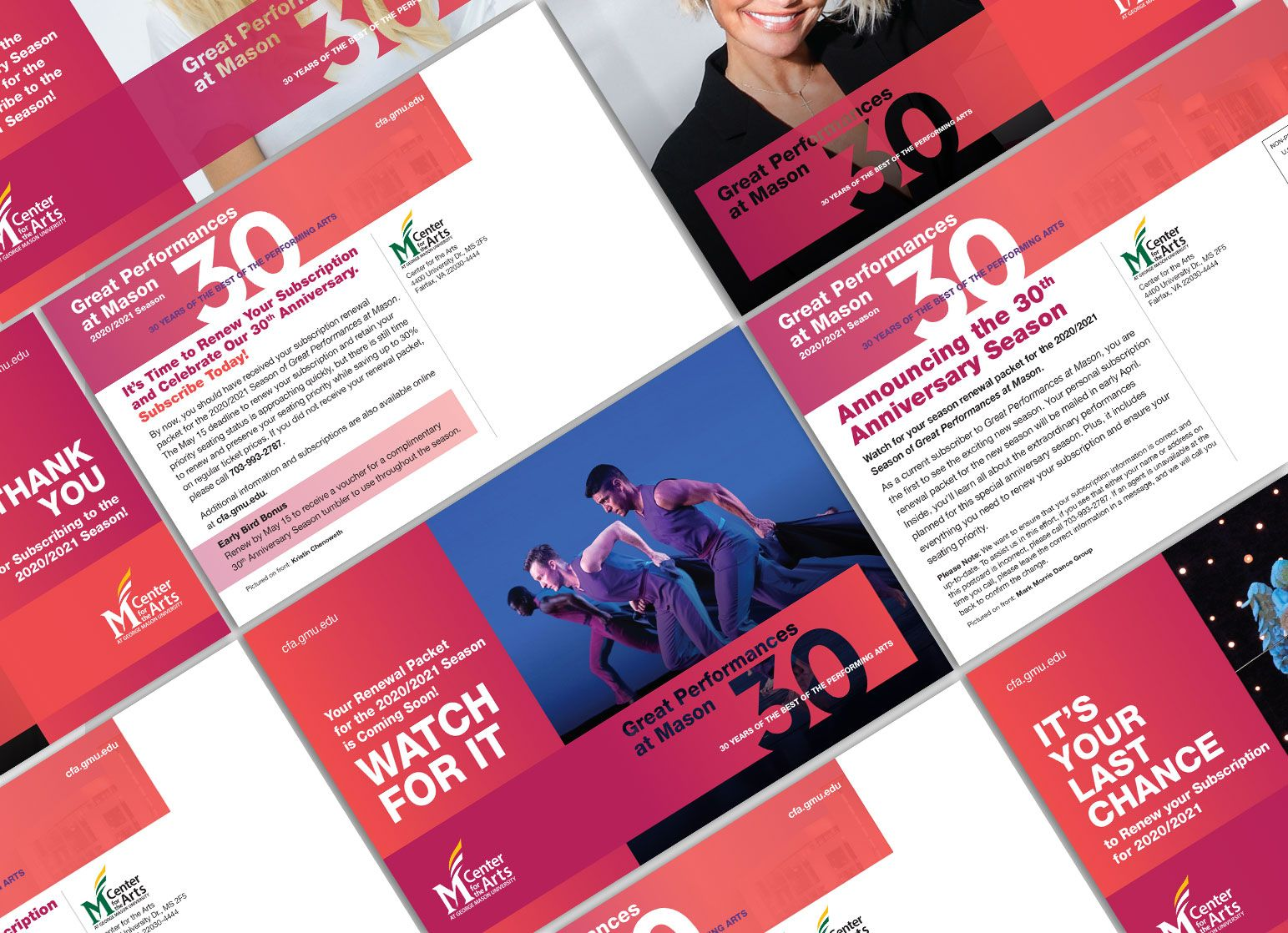 George Mason University - Center for the Arts - Design by New Leaf Graphic Design